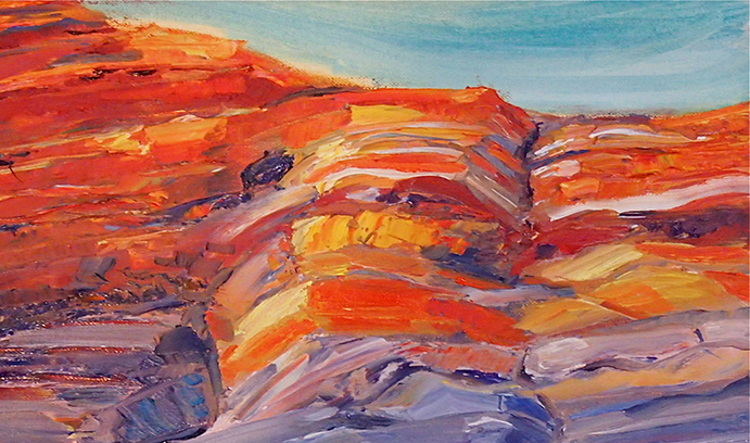 Kodama has also studied the Moenave Formation in southern Utah. A painting of red rocks from the formation, done by Kodama's wife, Anna Kodama, is the cover illustration for Kodama's book Paleomagnetism of Sedimentary Rocks: Process and Interpretation.