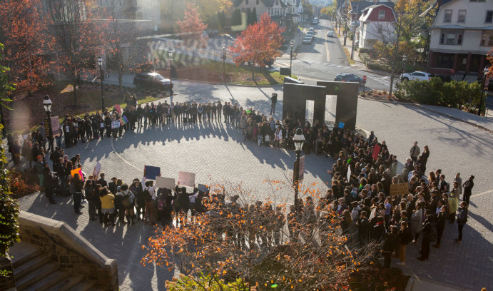 Lehigh community rallies for inclusion at the Alumni Memorial Building