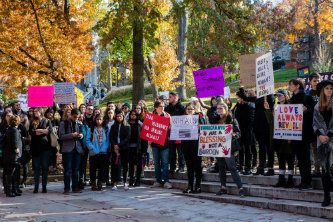 Lehigh University community gathers for rally on UC lawn