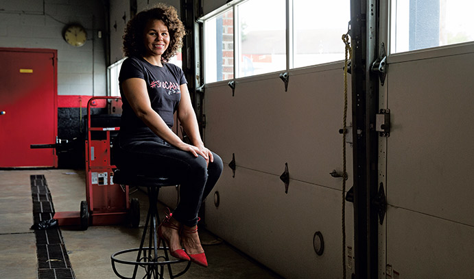 Patrice Banks takes on male-dominated auto repair industry