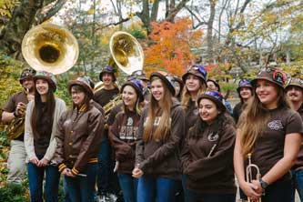 Lehigh Marching 97 band at Lord Mayor of Westminster visit.