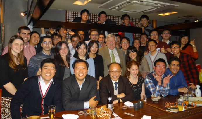 Masayoshi Nakashima '81 Ph.D. at a U.S.-Japan student workshop in Kyoto in 2014