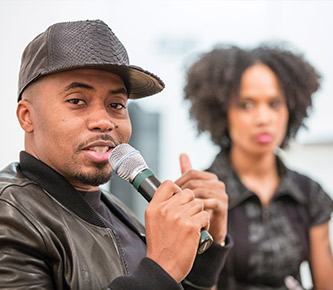 The hip hop artist Nas also visited Lehigh in 2014.