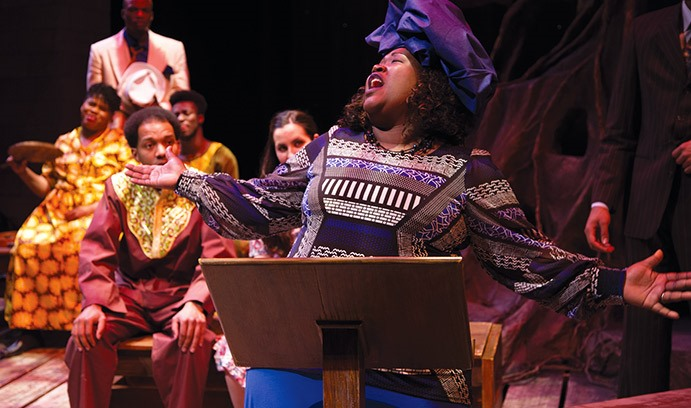 Members of the Greater Shiloh Church perform at Every Tongue Confess. The Easton, Pa., church is one of many local organizations with which Lehigh's Africana Studies program has formed partnerships.