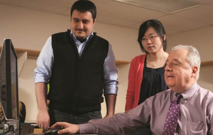 Life-cycle engineering pioneer Dan Frangopol with former advisees Duygu Saydam and Benjin Zhu.