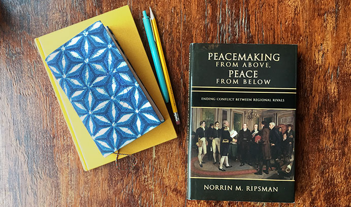 In addition to the historical turnaround in Franco-German relations, Norrin Ripsman's new book includes analyses of the Egyptian-Israeli peace treaties of 1978-79 and the Israeli-Jordanian Treaty of 1994. (Photo by Christa Neu)