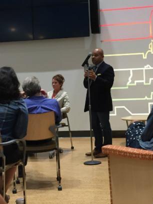 Saladin Ambar speaks at open forum on protest and policing