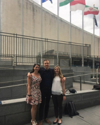 Members of the Lehigh Soterra team at the United Nations