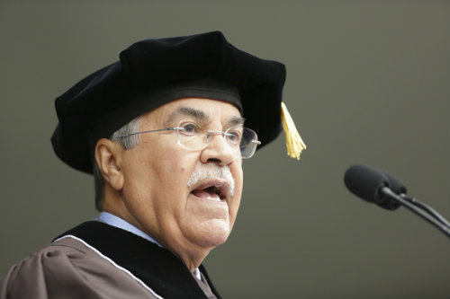 Ali bin Ibrahim Al-Naimi '62, the Saudi Arabian Minister of Petroleum and Mineral Resources, delivering the commencement address to the Class of 2012.