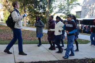 Success Academy students get a tour of Lehigh