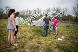 The Mountaintop project was based around the idea of sustainable farming at the garden.