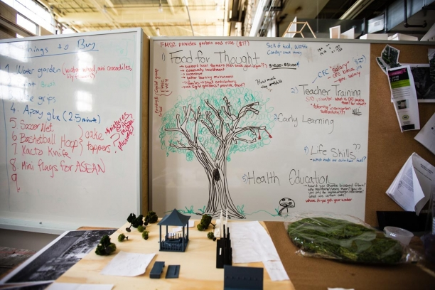 Whiteboards full of ideas at Mountaintop