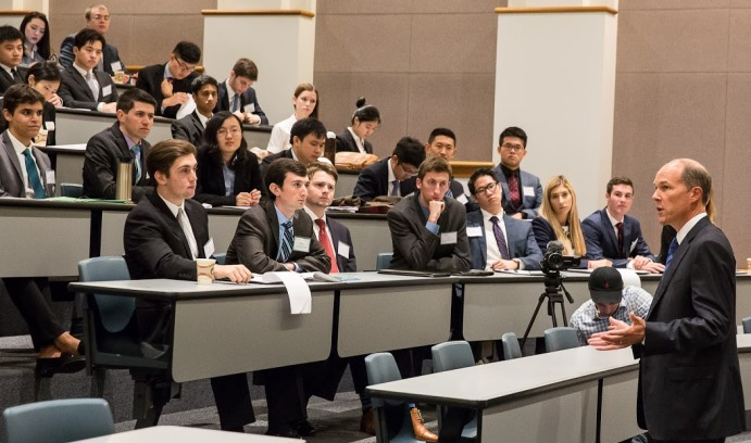 In his keynote presentation, Jordan Hitch '88 discussed his path from mechanical engineering major to managing director of Bain Capital.