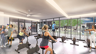 Rendering of Singleton Hitch Maida Gym