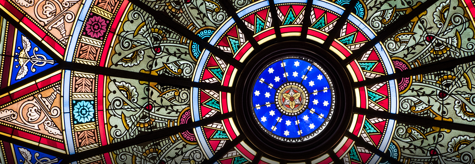 Stained Glass of Linderman Library