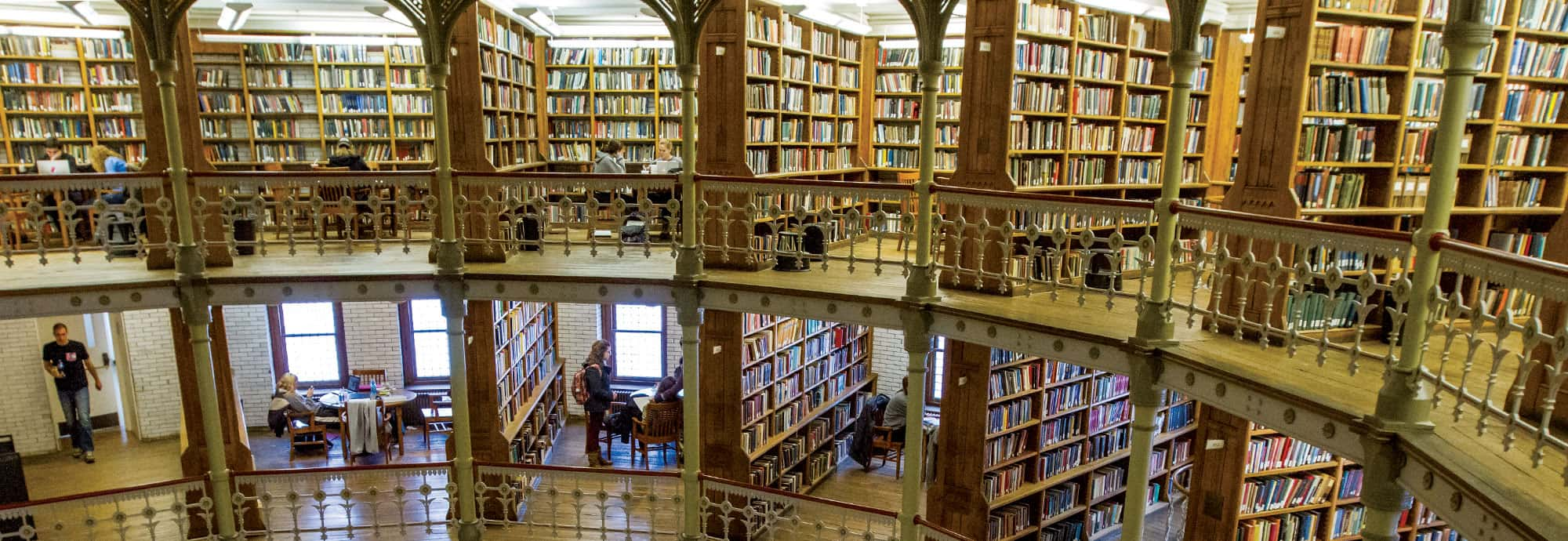 Inside Linderman Library