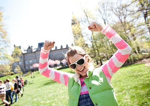 Happy Lehigh student