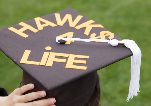 Close-up of graduation cap