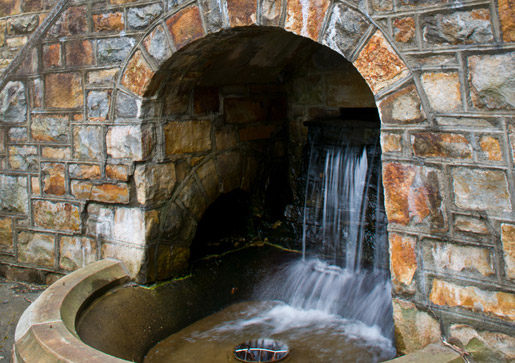 Waterfall on campus