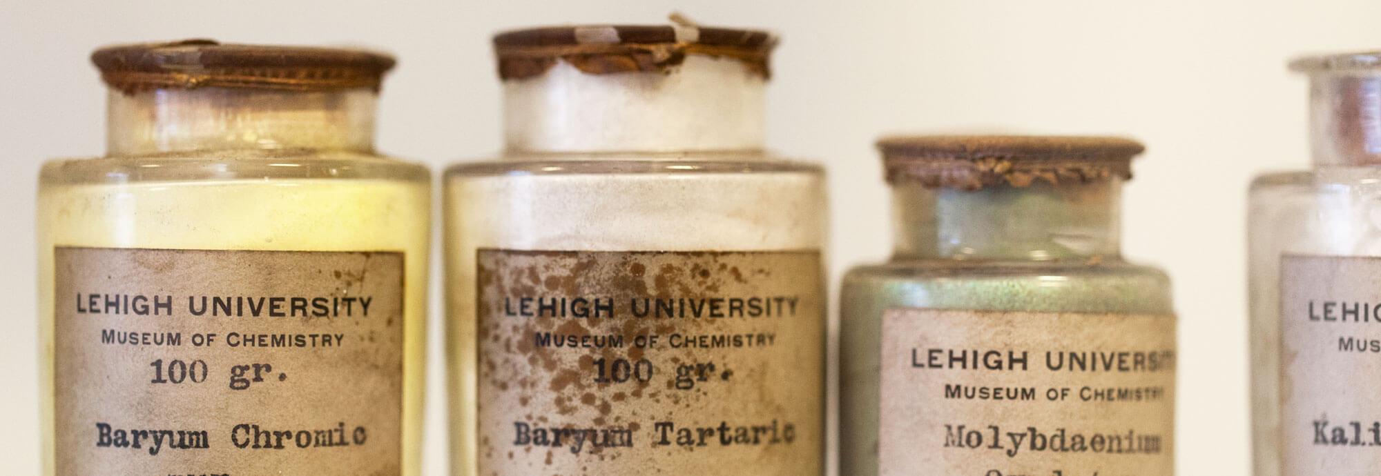 Lehigh Museum of Chemistry bottles