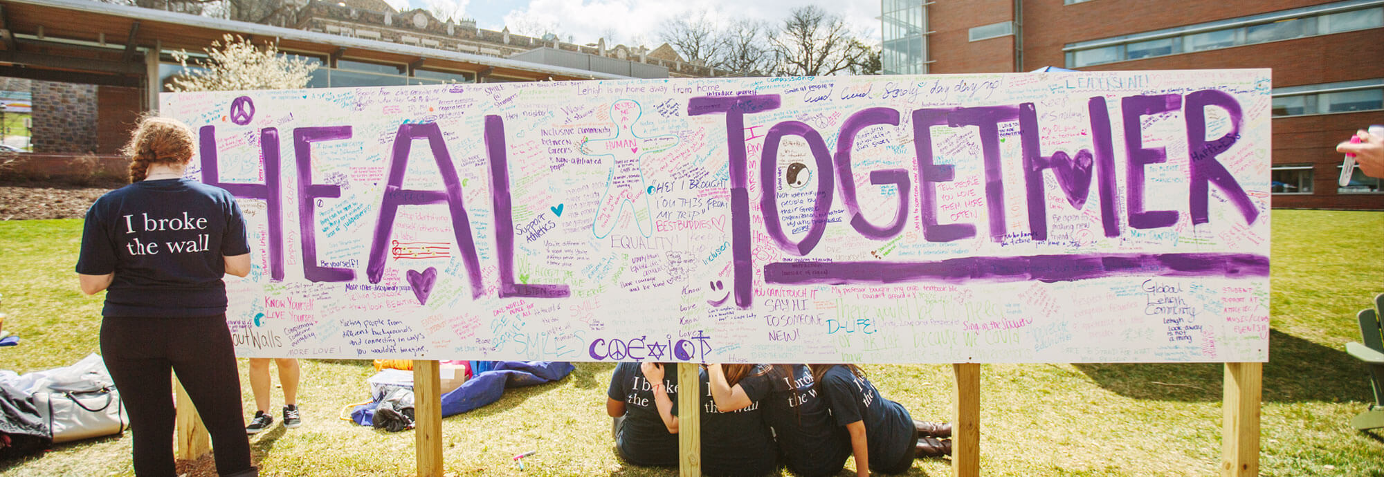 Heal Together sign