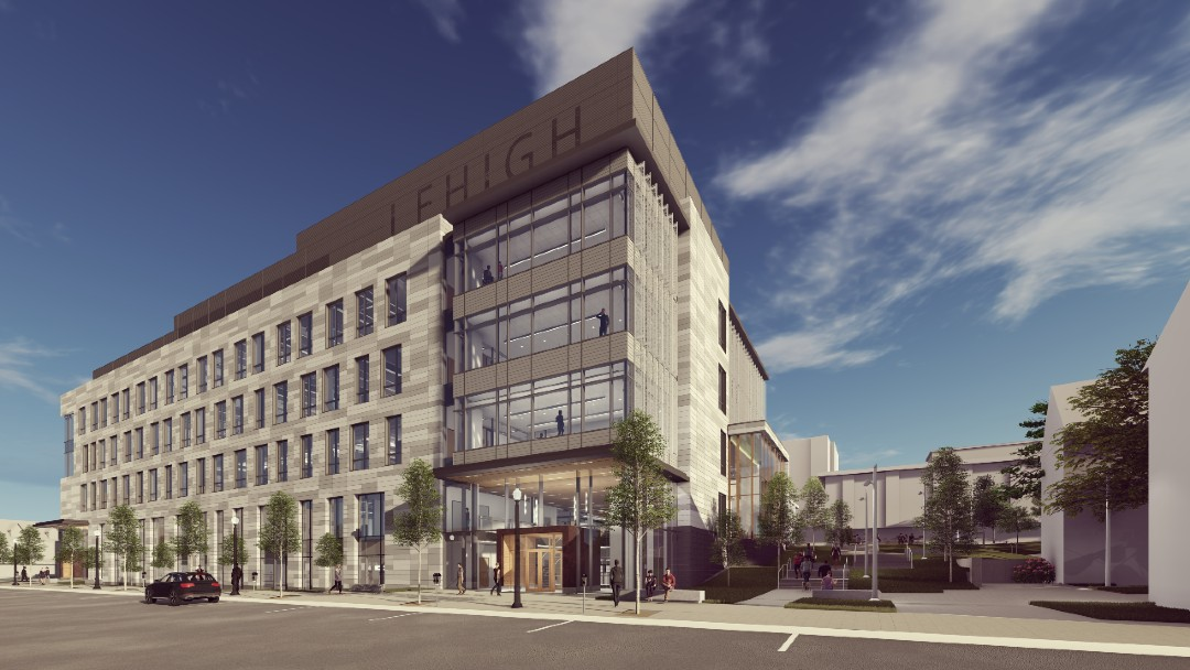 Rendering of Lehigh University's HST Building