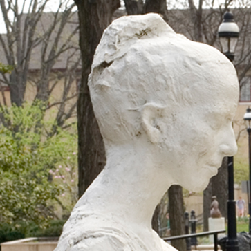 The Woman on Park Bench, created by George Segal