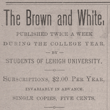 Lehigh's Brown and White