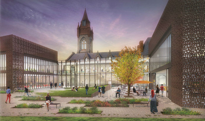 Rendering of the University Center
