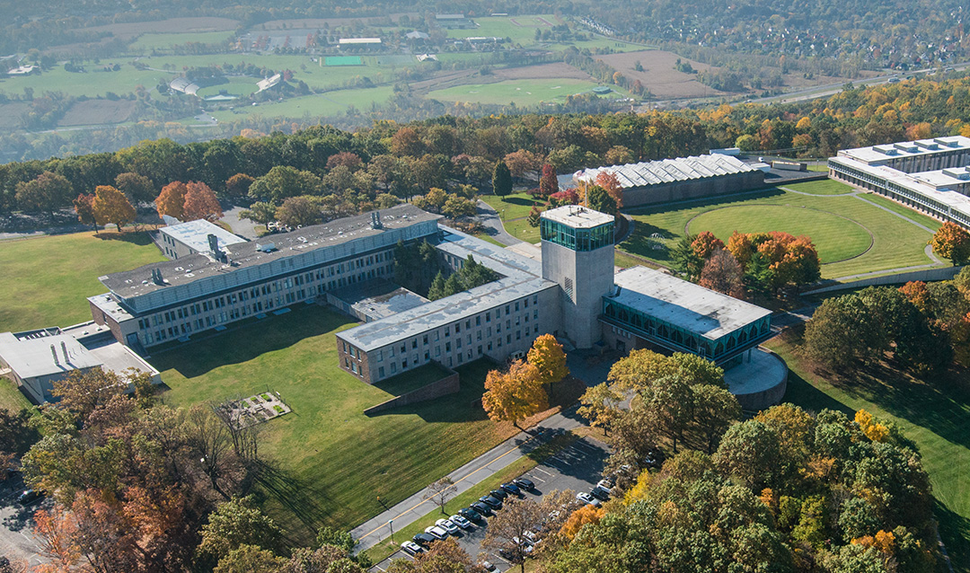 Lehigh University's Iacocca Hall from above