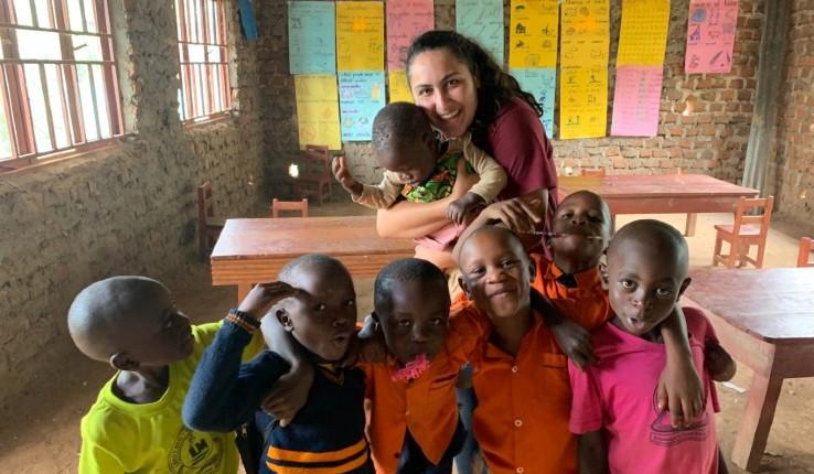 Jessica Galarza in Uganda.