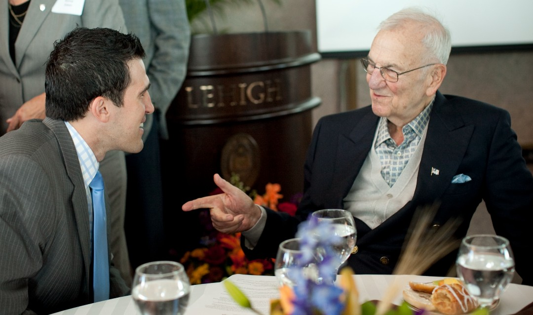 Lee Iacocca with a Global Village participant