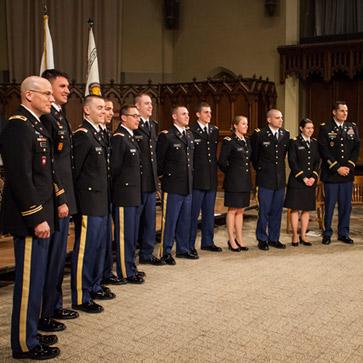 Members of the Steel Battalion, Lehigh's ROTC program.