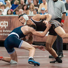 Students wrestling