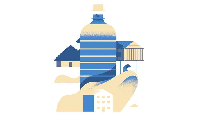 Water bottle illustration