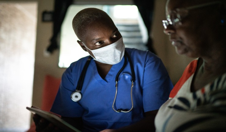 a hospital worker