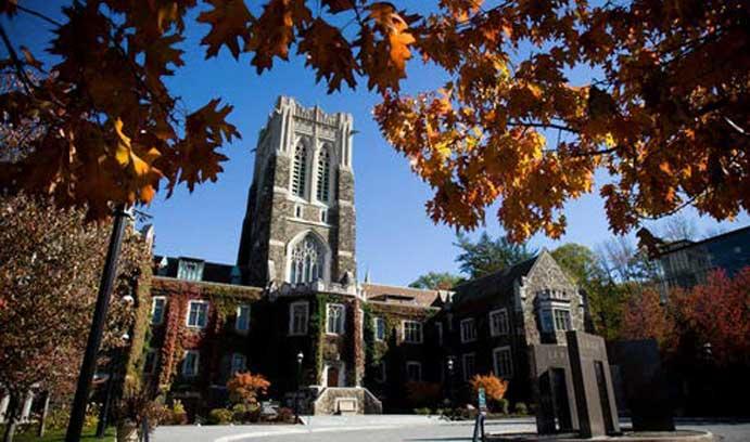 Alumni Memorial Building in fall