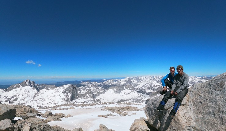 Two students at the Gannett Peak summit