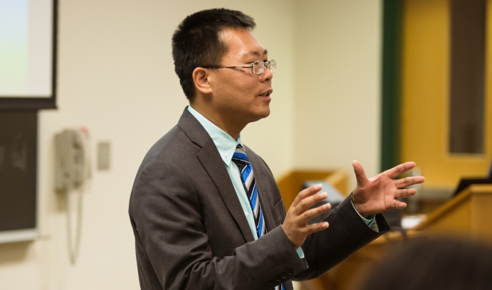 Chinese human rights lawyer Teng Biao was invited to Lehigh by the Visiting Lecturers Committee and the department of international relations. (Photo by Christa Neu)