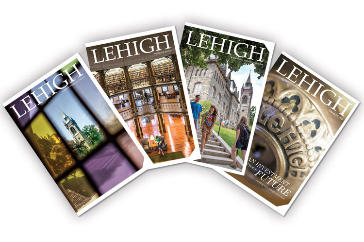 Covers of Lehigh admissions brochures