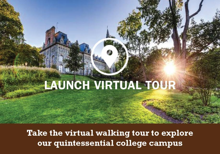 Take the virtual walking tour to explore our quintessential college campus