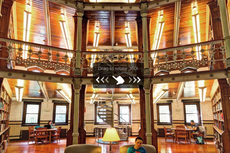 Inside of Linderman Library